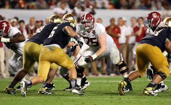 Barrett Jones took on double teams with pure enjoyment.