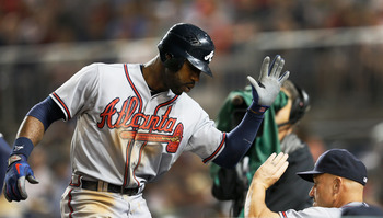 Jason Heyward will be joined in the outfield by B.J. and Justin Upton this season.