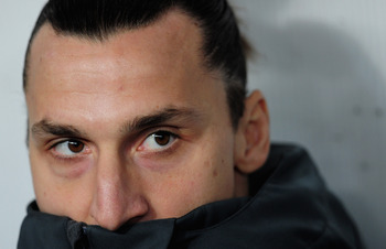 Ibrahimovic started on the bench to keep him fresh for Tuesday's clash with Valencia