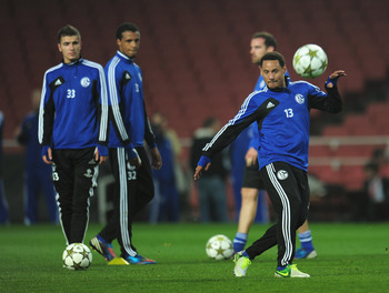 LONDON, ENGLAND - OCTOBER 23:  Jermaine Jones of FC Schalke 04 during a training session at Emirates Stadium on October 23, 2012 in London, England.  (Photo by Shaun Botterill/Getty Images)