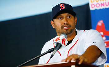 RF Shane Victorino had a down 2012 season in hitting .255 with 11 HR and 55 RBI.