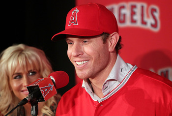 RF Josh Hamilton hit .285 BA, 43 HR, 128 RBI last season.