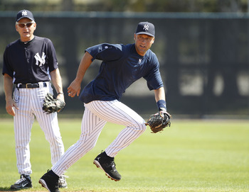 Reports say Jeter is out of his walking boot and running on an underwater treadmill.