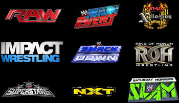 Logos copyright to their respective companies (WWE, TNA, ROH)