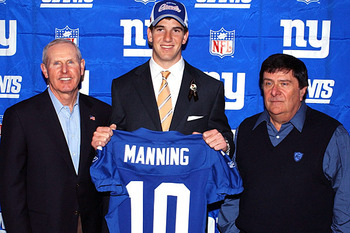 Eli Manning lands in NY via a 2004 Draft Day trade.