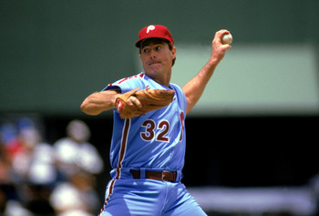 Carlton won four NL Cy Young Awards during his Phillies career. Stephen Dunn/Getty Images