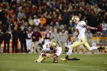 Florida State kicker Dustin Hopkins