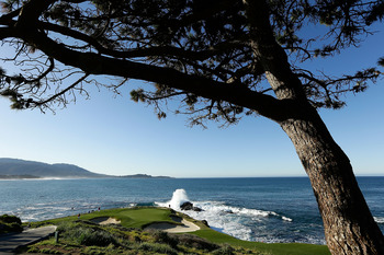 This is the kind of scenery that dominates at Pebble Beach Golf Links.