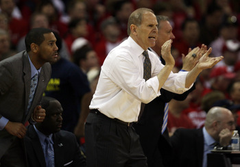 Head coach John Beilein instructed his young Wolverines to foul before any kind of shot by Wisconsin in the closing seconds.