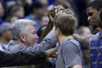 Kansas State about to break the huddle. {Photo by SHANE KEYSER | Kansas City Star)