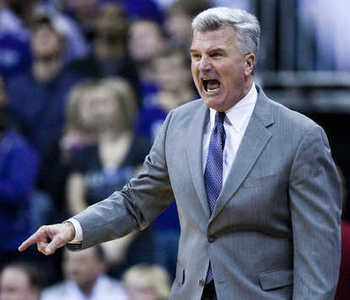 Kansas State head coach Bruce Weber {Photo by SHANE KEYSER | Kansas City Star)