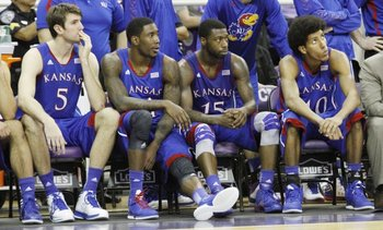 Kansas players after being upset by TCU. Photo by Mike Yoder