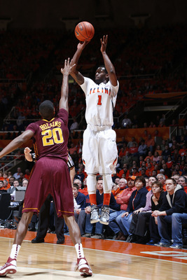 D.J. Richardson leads the Illini with 57 threes this season.