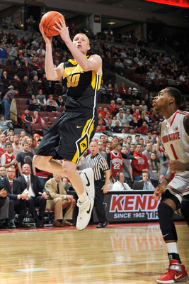 Forward Aaron White leads the Hawkeyes in both points and rebounds.