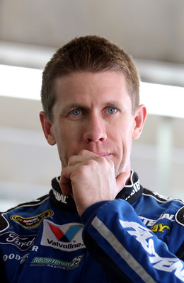 Could Carl Edwards be thinking about how he'd fare with another team in 2014?