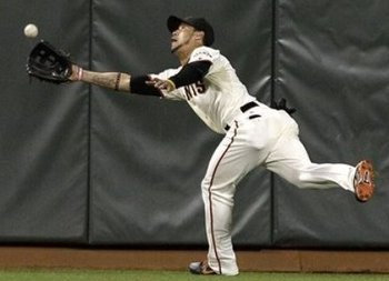 Gregor Blanco's catch saved Matt Cain's Perfect Game.