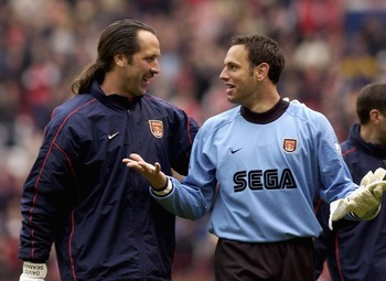 Richard Wright with his mentor David Seaman.