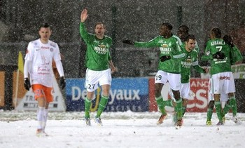 ASSE beat the weather and Montpellier to go fourth in the table. Photo courtesy of FIFA.com