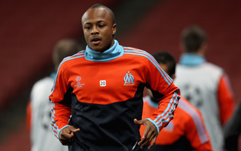 Ayew needed only two minutes to get shown the exit.