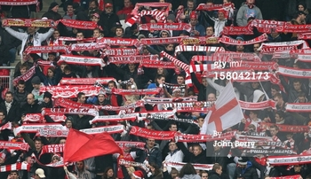 Reims fans finally had something to cheer. Photo courtesy of Getty Images