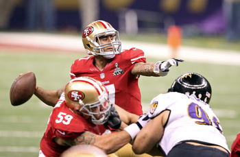 Colin Kaepernick came up five yards short of another Super Bowl win for 49ers.