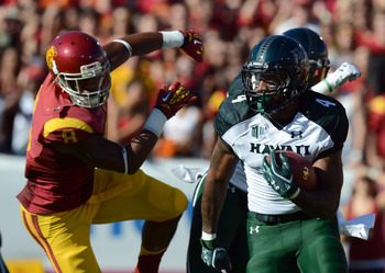 Hawaii Warriors took on USC in 2012.
