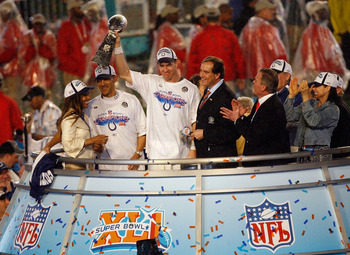 Peyton Manning led the Colts to a win in Super Bowl XLI.