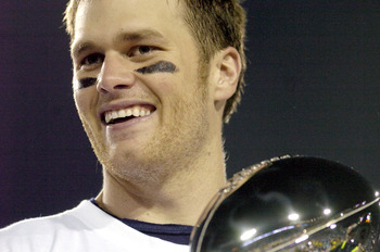 Tom Brady is all smiles after winning Super Bowl XXXIX.
