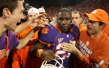 C.J. Spiller proved at Clemson that he could score from anywhere on the field.