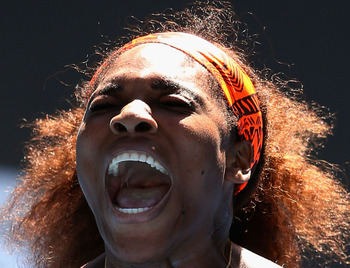 Serena crashed out in the quarterfinals in Australia.
