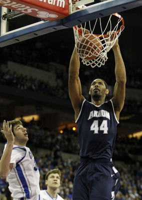 Zeke Marshall throws down a dunk against Creighton in early December.