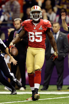Tight end Vernon Davis' production fell off significantly in 2012.