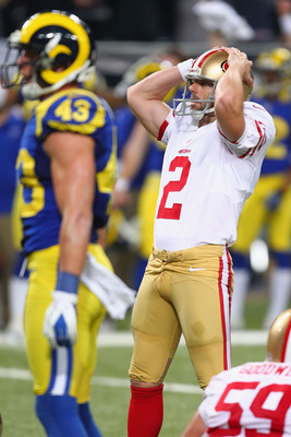 Kicker David Akers experienced the worst season of his NFL career in 2012.