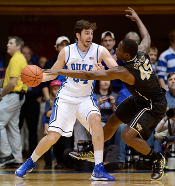 Duke's Ryan Kelly against Wake Forest.