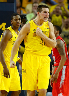 Michigan forward Mitch McGary (4) against Ohio State.