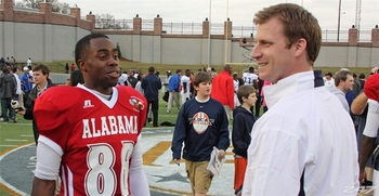 Jason Smith and Auburn offensive coordinator Rhett Lashlee. Photo via 247sports
