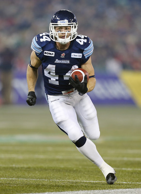 Kackert in action during 2012 Grey Cup final
