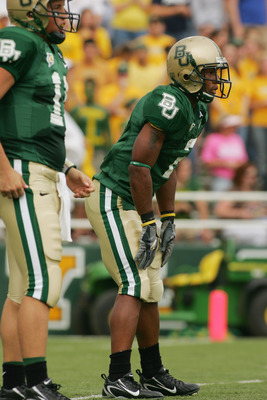 Whitaker (right) and Baylor teammate during 2006 game vs. TCU