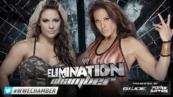 Can Kaitlyn retain her title against the tough Tamina? Photo by: WWE