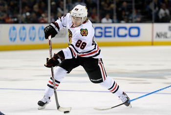 Patrick Kane is an early front-runner for the Hart Trophy.