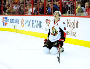Erik Karlsson is in line for a second Norris Trophy.