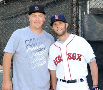 Matt Dunbar with ASU great Dustin Pedroia