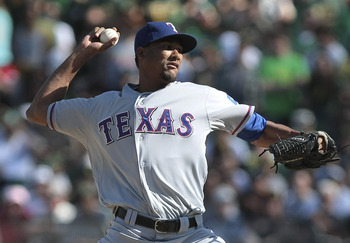Alexi Ogando will pitch in the Texas rotation in 2013.