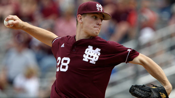 Chris Stratton should move quickly through the system thanks to a solid four-pitch arsenal. Courtesy of Mississippi State University (h/t MiLB.com)
