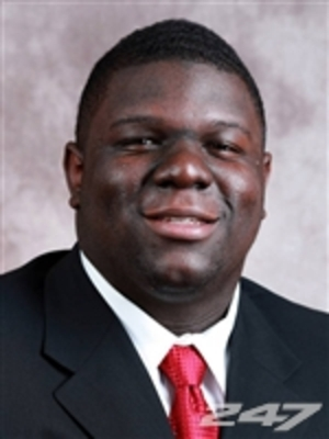 Redshirt freshman DT Vincent Valentine. Original located at http://bit.ly/VeHzWT