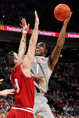 Ohio State junior forward Deshaun Thomas against Indiana.