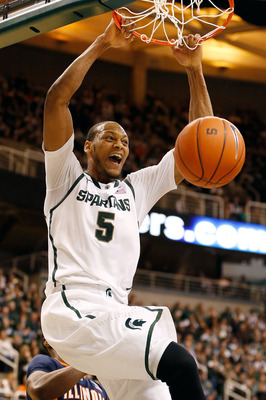 Michigan State Junior forward Adreian Payne against Illinois.