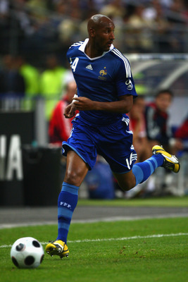 Anelka playing for France