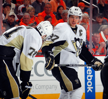 Evgeni Malkin and Sidney Crosby—the faces of the Penguins.