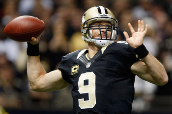 Saints quarterback Drew Brees throws a pass against Carolina on Dec. 30.